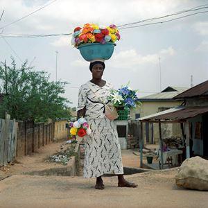 La dame aux fleurs by Denis Dailleux contemporary artwork photography