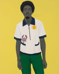 A bucket full of treasures (Papa gave me sunshine to put in my pockets...) by Amy Sherald contemporary artwork painting