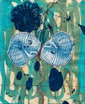 Ovulation Blues by Marina Cruz contemporary artwork