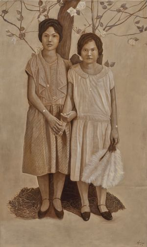 Two Sisters from Another Mother by Marina Cruz contemporary artwork