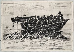 Refugees (You Will Find No Other Seas) by William Kentridge contemporary artwork