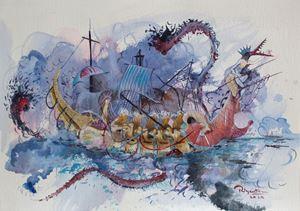 Serendib 15 by Priyantha Udagedara contemporary artwork