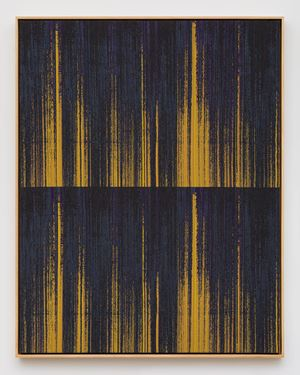 Negative Entropy (Stripe International Inc., Accounting Department, Purple, Orange, Double) by Mika Tajima contemporary artwork
