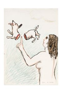 À l'index by Roland Topor contemporary artwork painting, works on paper, drawing