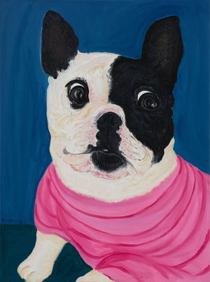 Winston Says Curb Your Enthusiasm by Julia Long contemporary artwork painting