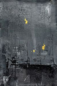 Golden Human with Gray World #5 by Yi Kai contemporary artwork painting