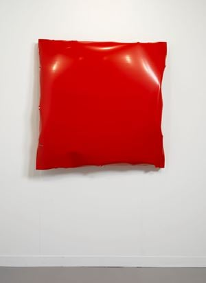 Battered IV (Red) by Angela De La Cruz contemporary artwork