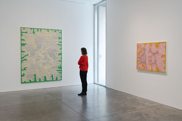 Exhibition view: James Siena, Painting, Pace Gallery, 537 West 24th Street, New York (11 January–9 February 2019). Courtesy the artist and Pace Gallery.