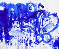 Double Fly Klein Blue 3 by Double Fly Art Center contemporary artwork painting