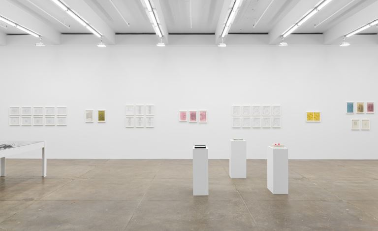 Exhibition view: Barbara T. Smith,Outside Chance, Andrew Kreps Gallery, New York (18 January–24 February 2018). Courtesy the artist and Andrew Kreps Gallery.