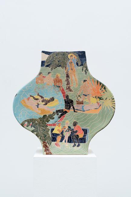 Pool Party by Krzysztof Strzelecki contemporary artwork