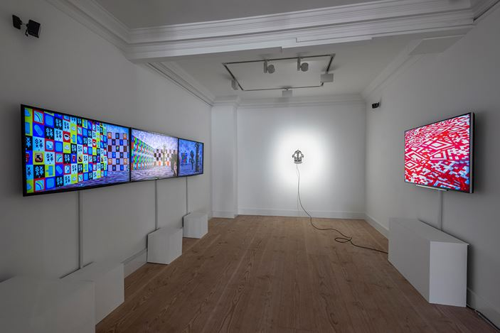 Exhibition view: Group Exhibition, Enter Through The Headset 4, Gazelli Art House, London (6 September–28 September 2019). Courtesy Deniz Guzel and Gazelli Art House.