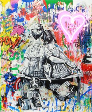 Work Well Together by Mr. Brainwash contemporary artwork