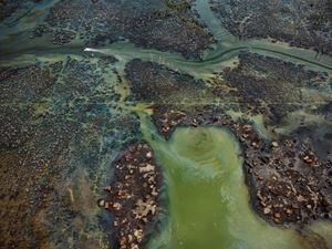 Oil Bunkering #4, Niger Delta, Nigeria by Edward Burtynsky contemporary artwork