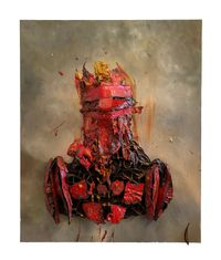 Constructing Auras No. 1 by Antony Micallef contemporary artwork painting, works on paper