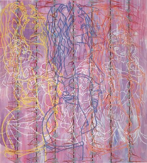 Princesses RFGA by Ghada Amer contemporary artwork