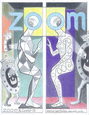 ZOOM & Covid-19 by Anton Van Dalen contemporary artwork