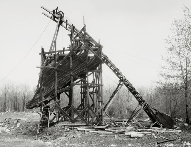 Minnich Coal Co., Goodspring Mountains, Schuylkill County, USA by Bernd & Hilla Becher contemporary artwork