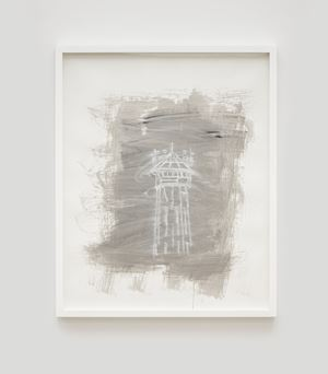 Untitled (Watch Tower No. 5) by Gary Simmons contemporary artwork