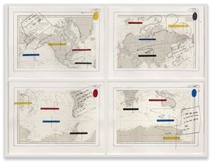 ISLANDS IN THE STORM by Lawrence Weiner contemporary artwork