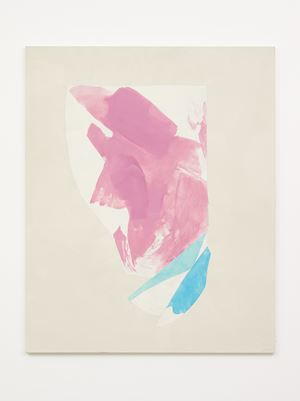 Rose, Green and light Blue by Peter Joseph contemporary artwork