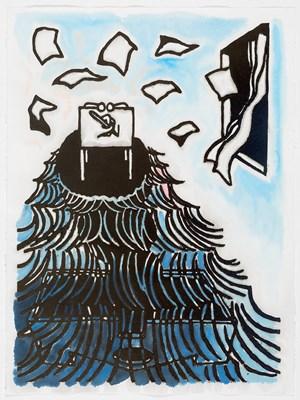 Vicar Confalonieri's short conversation by Benjamin Armstrong contemporary artwork