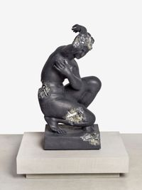 Ash and Pyrite Eroded Crouching Aphrodite by Daniel Arsham contemporary artwork sculpture