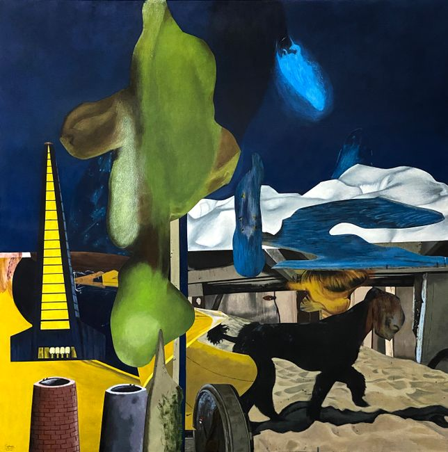 Left behind by Rodel Tapaya contemporary artwork