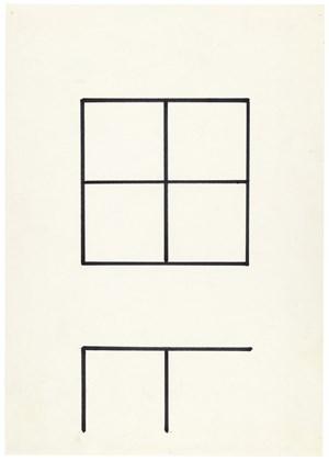 Zeichen der neuen Ordnung by Helmut Federle contemporary artwork