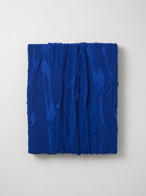Untitled (Oriental blue) by Jason Martin contemporary artwork
