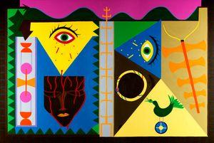 Frontal de um Templo by Abdias do Nascimento contemporary artwork