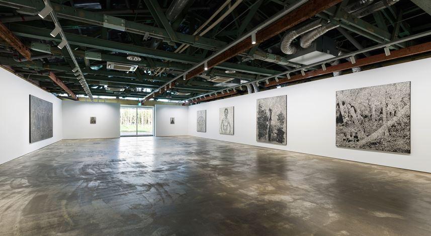 Exhibition view: Daniel Boyd, Recalcitrant Radiance,Kukje Gallery, Busan (13 December 2019–29 February 2020).Courtesy the artist and Kukje Gallery.