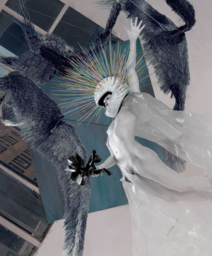Glass House Icarus by Jake Michael Singer contemporary artwork