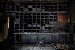 The Burnt Library by Henk Van Rensbergen contemporary artwork