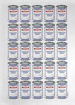 Soup Cans by Banksy contemporary artwork