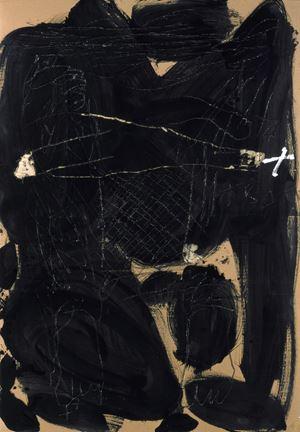 Graphismes sur noir by Antoni Tàpies contemporary artwork