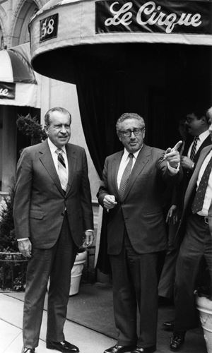 Richard Nixon and Henry Kissinger by Bill Cunningham contemporary artwork