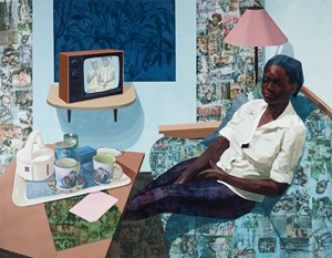 Super Blue Omo by Njideka Akunyili Crosby contemporary artwork