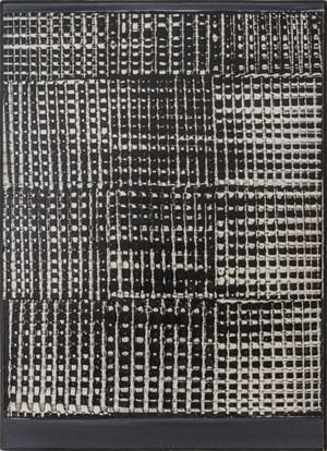 Dynamische Struktur Schwarz-Weiß by Heinz Mack contemporary artwork