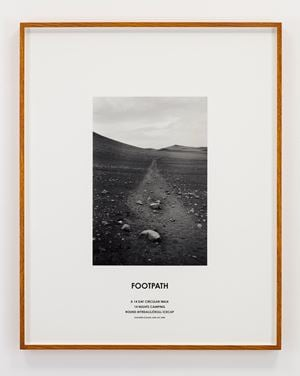 Footpath, Iceland, 2008 by Hamish Fulton contemporary artwork