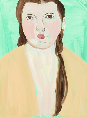 Bella in Yellow by Chantal Joffe contemporary artwork
