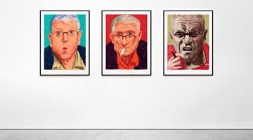 Contemporary art exhibition, David Hockney, Portraits at Galerie Lelong & Co. Paris, Online Only