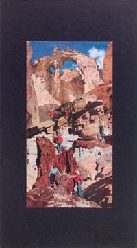 Western Scene #2 by Barry Gerson contemporary artwork mixed media