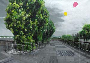 Study of Green-Seoul-Vacant Lot-Seonyudo (Islet) by Honggoo Kang contemporary artwork