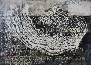 Nature Speaks: FS by Imants Tillers contemporary artwork