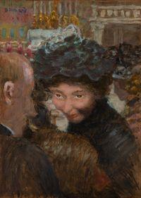 Rue à Paris by Pierre Bonnard contemporary artwork painting, works on paper