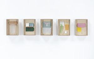 Coin P Trame / B Fragment W / Fond coin trame / Trame pli / U O coin by Sahar Saâdaoui contemporary artwork
