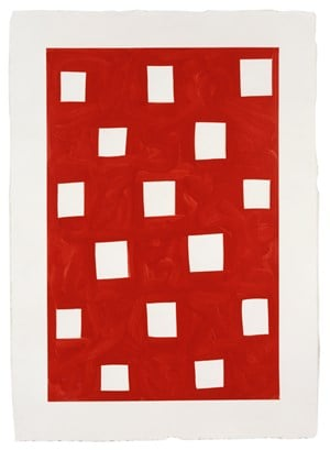 The Red Screen by Mary Heilmann contemporary artwork