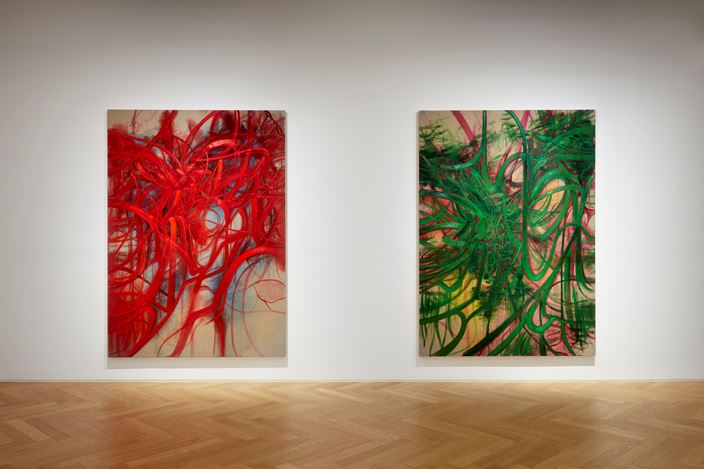 Exhibition view: Nigel Cooke, Pace Gallery, Seoul (2 September–24 October 2020). Courtesy Pace Gallery.