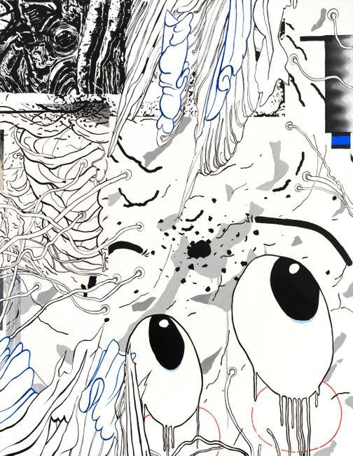 Big Eyes by Zhong Wei contemporary artwork